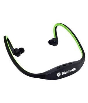 Cascos Auriculares Inalámbricos Verdes Bluetooth Para Cuello Running, Ideal Para Correr!