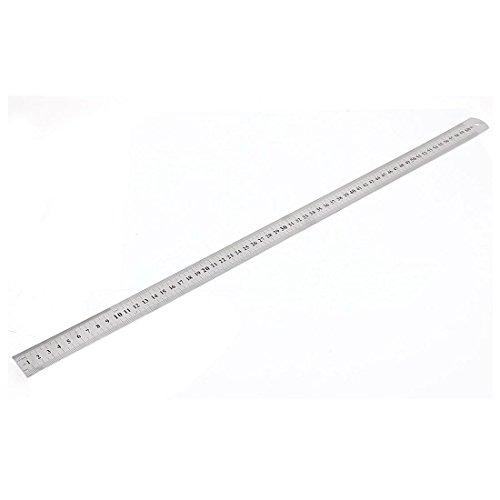 SODIAL(R) Stainless Steel Double Side Measuring Straight Edge Ruler 60cm/24