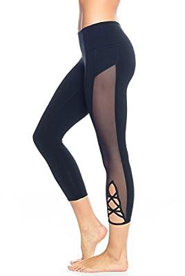 PopFlex Active Wishing Star Capri Womens Active Workout Yoga Leggings
