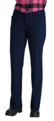 Dickies Women's Relaxed Straight Stretch Twill Pant, Dark Navy 8 Long