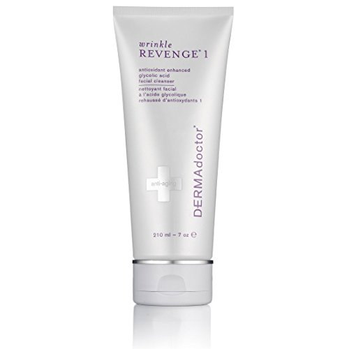 DERMAdoctor Wrinkle Revenge 1 antioxidant enhanced glycolic acid facial cleanser - 7 Oz