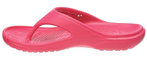 crocs 12066 Baya Flip Sandal (Toddler/Little Kid),Raspberry,12 M US Little Kid