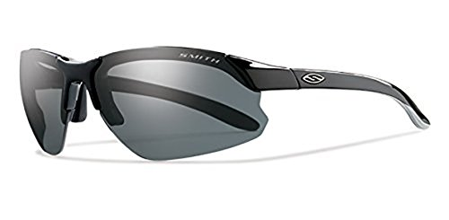 Smith Parallel D Max Sunglasses Black / Polarized Gray / Clear / Ignitor & Cleaning Kit - Sunglasses Parallel Max Polarized Smith