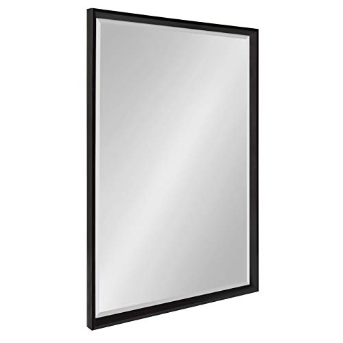 Kate and Laurel Calter Framed Wall Mirror, 25.5x37.5 Black