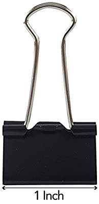 Clipco Binder Clips Small 1-Inch Black (144-Pack)