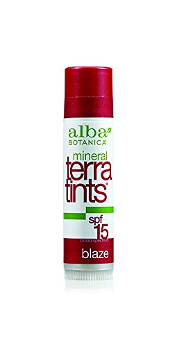 Alba Botanica Terratints, Blaze Lip Balm, 0.15 Ounce - Alba Terratints Natural