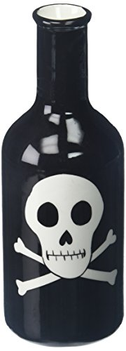 Poison Props (Skull and Crossbones Black Ceramic Bottle Vase)