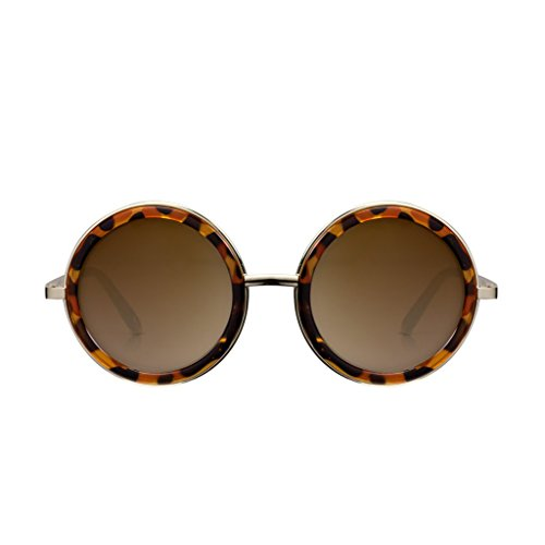 PERVERSE sunglasses Geek Chic Round Sunglasses (Tortoise w/Gold, - Glasses Chic Geek
