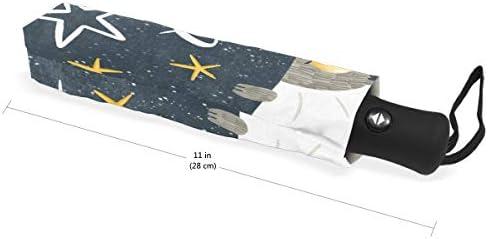 Akiraki 折りたたみ傘 レディース 軽量 ワンタッチ 自動開閉 メンズ 日傘 UVカット 遮光 ねこ 猫柄 星 星柄 グレー かわいい おもしろ 折り畳み傘 晴雨兼用 断熱 耐強風 雨傘 傘 撥水加工 紫外線対策 収納ポーチ付き