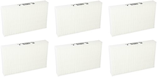 Nispira True HEPA Filter Replacement for Honeywell Air Purifier Models HPA300, HPA100 and HPA200 Compared with R Filter Part HRF-R1 HRF-R2 HRF-R3, 6 Packs