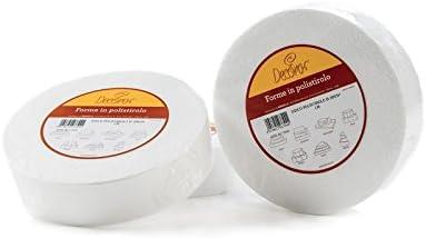 DECORA poliestireno Disco Forma Chupete para decoración de Pasteles, Blanco, poliestireno, Hueso, 40 x 10 cm