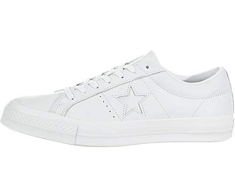 Converse Men's One Star Oxford Sneakers, White, 8 M US (Converse All Star Oxford)