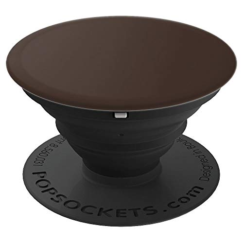 (All Plain Solid Brown Color Pop Socket Brown Feather - PopSockets Grip and Stand for Phones and Tablets)