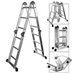 Light Weight Multi-Purpose 12′ Aluminum Ladder – LB Capacity by Rrt 300