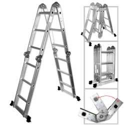 14' H 1 Light (Light Weight Multi-Purpose 12' Aluminum Ladder - 300 LB Capacity by Rrt)