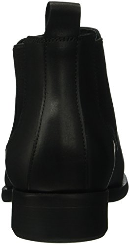 Psizi Mujer Negro Botas New Pieces Boot Short Black Leather Chelsea BLC para zvUWwd