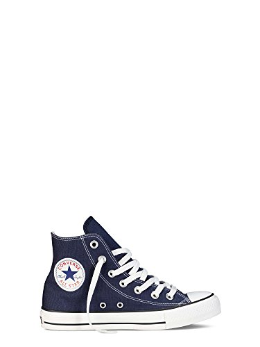 Converse Lined Sneakers - Converse Women's Chuck Taylor All Star Classic Hi Trainers US5 Blue