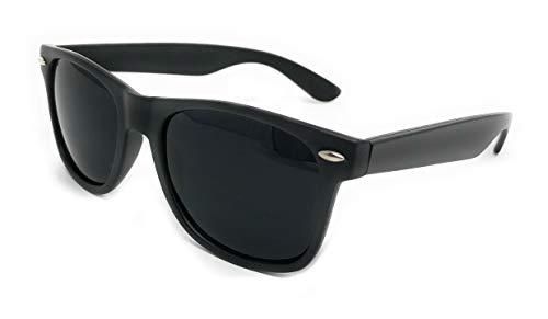 Sunglasses Classic 80's Vintage Style Design... (Matte Black, Super ()