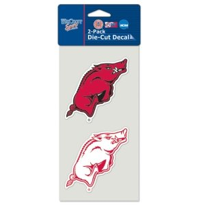 (WinCraft NCAA University of Arkansas Perfect Cut Decal (Set of 2), 4