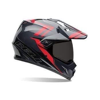 Bell MX-9 Adventure Off Road Motorcycle Helmet (Barricade Red, Medium) (Non-Current Graphic)