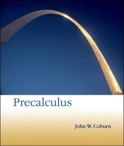 Precalculus (Math Pre Calculus 12 Textbook Mcgraw Hill)