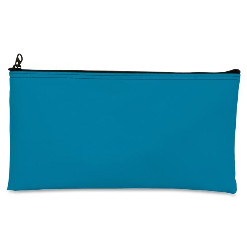 Leatherette Zipper Wallet - MMF Industries Leatherette Zipper Wallet, 11 x 6 Inches, Mariner Blue (2340416W38)