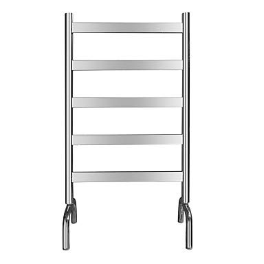 Hanging Heater Steel Electric Stainless (Freestanding Thermostatic Electric Towel Warmer Rack Full Welding 304# Stainless Steel Rustproof Mirror Polished Drying Clothing Rack Heater 5 Bar LF5)