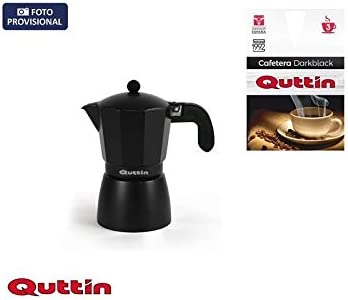 CAFETERA METÁLICA 3 SERVICIOS DARK BLACK QUTTIN: Amazon.es: Hogar