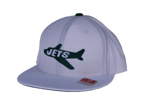 Mitchell & Ness NFL New York Jets Throwback Alternate Logo Fitted Hat, TK42, White ()