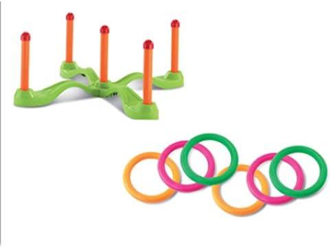 AIOJY スローモーションプレイニング 誘導パズル コーディネーション 幼稚園 アウトドア スタッキングタワーゲーム 親子 インドア ビーチ 物理教育玩具 プラスチックリング 色