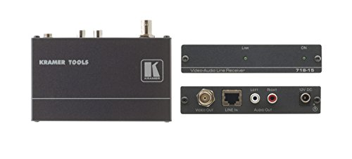 Over Video Pair Twisted Receiver (Kramer Electronics 718-05 Composite Video and Stereo Audio over Twisted Pair Receiver)
