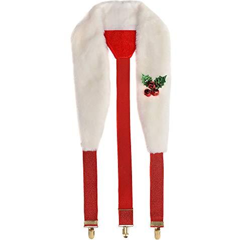 AMSCAN Fun Christmas Soft Suspenders Santa