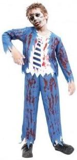 Partilandia Disfraz Zombie Colegial Azul para niño(2-4 años ...