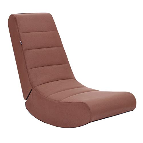 THE CREW FURNITURE Folding Video Rocker Gaming Chair, Brown