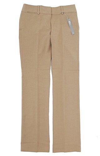 - LOFT Womens Marisa Fit Straight Leg Trouser Pants (00 Tall, Khaki Brown)