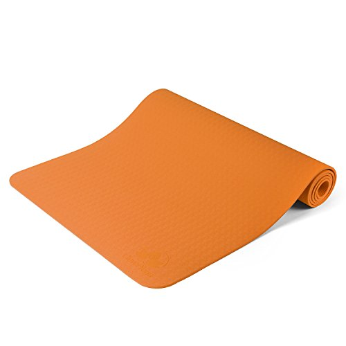 "Clever Yoga Mat BetterGrip Eco-Friendly With The Best Recyclable Non-Slip and Durable TPE(6mm) – Comes With Our Special ""Namaste"" (Orange)"