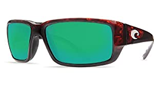 New Costa Del Mar Fantail 580G Tortoise/Green Mirror Polarized Lens 60mm Sunglasse