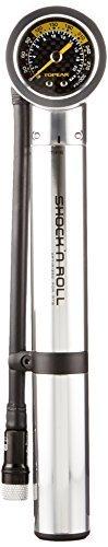 Topeak Shock N Roll Hand-Shock Pump with Gauge (Steel, 9.8 x 1.9 x 1.5-Inch) by Topeak by Topeak