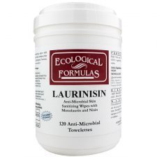 Ecological Formulas Laurinsin Anti-Microbial Skin Wipes with Monolaurin and Nisin 120 Wipes by Ecological Formulas