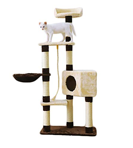 Large Climbing Frame cat Tree cat Activity Tower Apartment Furniture cat Rest Table cat Game House sisal Column cat Hammock, Size: 23.6