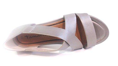 Tamaris, Sandali donna platinum (silbergrau)