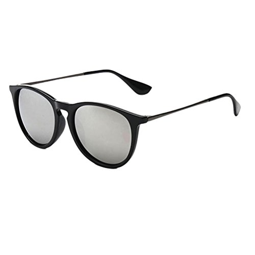 Casual Sunglasses Des Mens Special for Color silver UV400 Sunglasses Retro Round Film lunettes Zhhlinyuan dRq0ad
