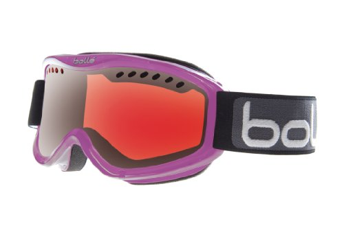 Bolle Carve Snow Goggles (Crystal Purple Frame/Vermillon Gun Lens) (Ski For Goggles Sunglasses Women)