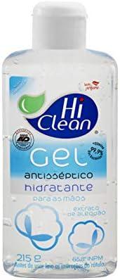 Hi Clean - Gel Antisséptico 70% (65,8º Inpm), Extrato de Algodão - 215G (250 Ml)