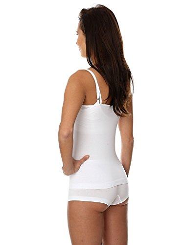 BRUBECK® 3x Set CM00210A COMFORT COTTON CAMISOLE Damen Unterhemd | Air Jet Gewebe | Baumwolle/Polyamid | Unterwäsche | Sport Funktionswäsche | Spaghettiträger-Top , Größe:S;Farbe:white