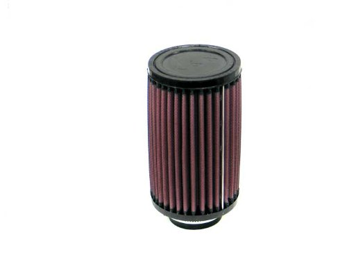 K&N RD-0470 Universal Clamp-On Air Filter: Round Straight; 1.875 in (48 mm) Flange ID; 6 in (152 mm) Height; 3.5 in (89 mm) Base; 3.5 in (89 mm) Top