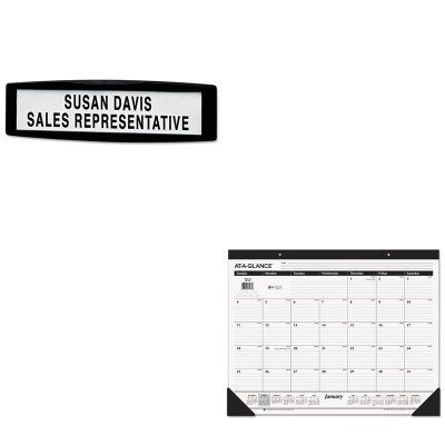 KITAAGSK2400FEL75906 - Value Kit - Fellowes Plastic Partition Additions Nameplate (FEL75906) and At-a-Glance Recycled Desk Pad (AAGSK2400)