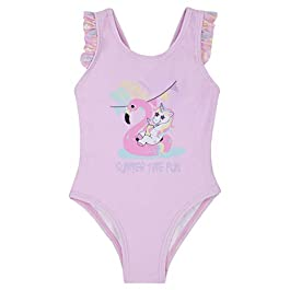 BABY TOWN Babytown Girls Novelty Unicorn Swimming Costume