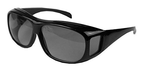 Rodeo M4x2 Fit Over Rx Reader Glasses Day Evening Driver Wrap Around Sunglasses (Slate, Smoke - Seniors Wrap For Around Sunglasses