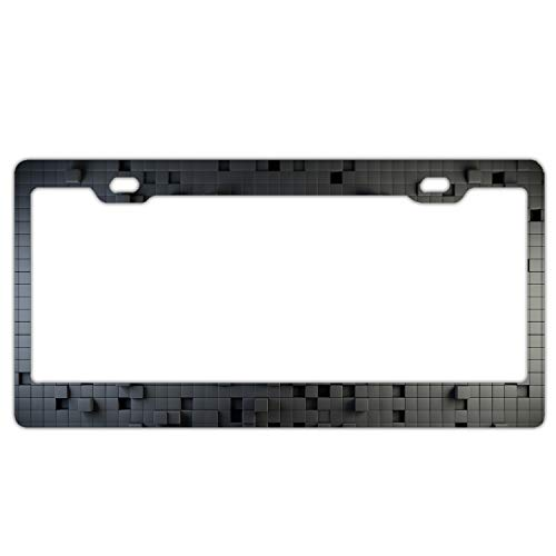 - Three Dimensional Square Light Metal License Plate Frame,Car Decoration Accessories,Quality Sturdy Metal Stainless Steel Frame